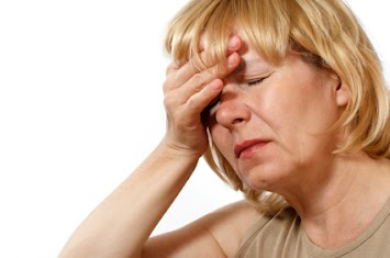 Woman with pounding headache